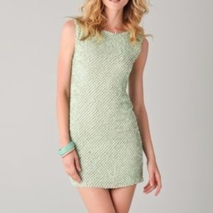 Alice + Olivia Sequined Tunic Dress, Pale Green